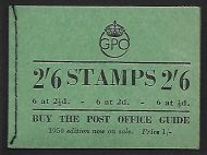BD18 2/6 GPO GVI booklet - July 1950 All panes inverted UNMOUNTED MINT/MNH