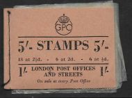 BD28 5/- GPO GVI booklet - Aug 1950 All panes inverted UNMOUNTED MINT