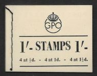 BD8 1/- GPO GVI booklet - All panes inverted Full perfs UNMOUNTED MINT