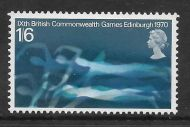 Sg 833y 1970 1/6 Games - missing phos - phosphor omitted UNMOUNTED MINT