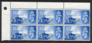 Sg C2a 1948 Channel Islands variety Crown flaw QCom13a MOUNTED MINT in margin