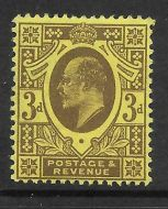 Sg 285 M22(1) 3d Purple on Lemon Harrison perf 15x14 UNMOUNTED MINT