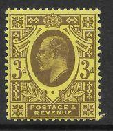 Sg 285 M22(1) 3d Purple on Lemon Harrison perf 15x14 UNMOUNTED MINT/MNH