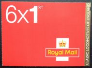 PM31 2011 Locomotives of England 6 x 1st Self Adhesive Booklet - complete