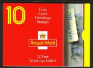 KX4 1992 Memories Greetings 10 x 1st with Labels UNMOUNTED MINT