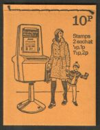 DN66 1974 Pillar boxes 10p Stitched Booklet - good condition UNMOUNTED MINT