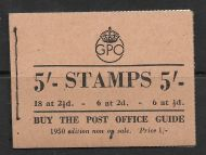 BD28 5/- GPO GVI booklet Edition 47 - Aug 1950 UNMOUNTED MINT/MNH
