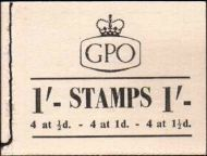 BD10 1/- GPO GVI booklet - Excellent condition UNMOUNTED MINT