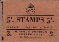 BD28(45) 5/- GPO GVI booklet - Apr 1950 UNMOUNTED MINT/MNH