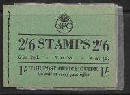 BD18 2/6 GPO GVI booklet Edition 83 - Sept 1950 Good perfs UNMOUNTED MINT