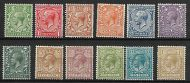 Sg 418 - 429 Block Cypher set of 12 values UNMOUNTED MINT/MNH
