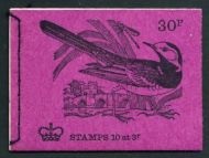 DQ63 Apr 1972 British Bird Series #4 30p Stitched Booklet - complete