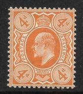 Sg 241 M25(3) 4d Orange Red De La Rue UNMOUNTED MINT