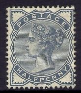 Sg 187 ½d Blue from Lilac  Green issue UNMOUNTED MINT/MNH