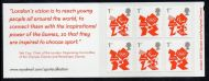 MB9 2012 Olympics Vision 6 x 1st Self Adhesive Booklet - complete