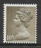 Sg 741a 10d Pre-decimal Machin on Uncoated paper - UNMOUNTED MINT