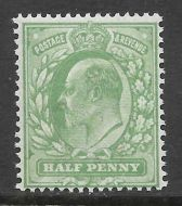 Sg 279 M4(1) ½d Dull Green Harrison perf 15x14 UNMOUNTED MINT