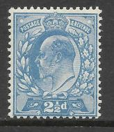 Sg 276 M17(3) 2½d Dull Blue Harrison Perf. 14 UNMOUNTED MINT/MNH