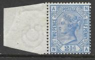 1880 - 1883 Sg 157 2½d Blue plate 22 Superb marginal example UNMOUNTED MINT