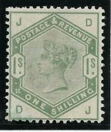 Sg 196 1/- Green from Lilac  Green issue Lettered D-J UNMOUNTED MINT/MNH