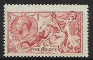 Sg 409 Spec N67(3) 5/- Pale Carmine De La Rue Seahorse UNMOUNTED MINT/MNH