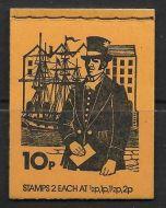 DN72 June 1975 Postal Uniforms 10p Stitched Booklet - good condition - complete