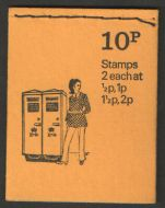 DN63 1973 Pillar boxes 10p Stitched Booklet - good condition UNMOUNTED MINT