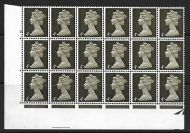 Sg 732 4d Machin PVA Cyl 15 perf A with phosphor varieties UNMOUNTED MINT/MNH