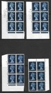 5d Pre-decimal Machin x 4 all with Nech Retouch UNMOUNTED MINT