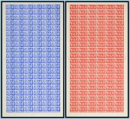 1951 GVI 2½d  4d Festival of Britain set in Full Sheets UNMOUNTED MINT/MNH