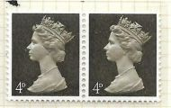 U13c 4d Sepia Machin with variety - nick in hair UNMOUNTED MINT/MNH