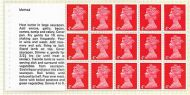 UB17a(ae) Cooks Booklet pane with Spot over Eye flaw UNMOUNTED MINT/MNH