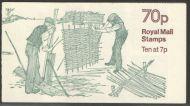 FD6b Dec 1978 70p Wattle Fence Making Folded Booklet - Complete