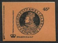 sg DS2 Dec 1974 British coins 45p Stitched booklet with all panes MNH