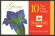 KX9 1997 Flowers Greetings Barcode Booklet Cyl W17/ W21 complete