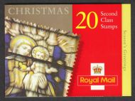 LX20 2000 Christmas Greetings Barcode Booklet 20 x 2nd class - complete