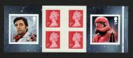 PM70 2019 Star Wars 6 x 1st Self Adhesive Booklet - cyl W1