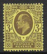 Sg285 M22(1) 3d Purple on Lemon Harrison perf 15x14 UNMOUNTED MINT/MNH