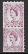 S108a Vertical Wilding Multi Crown on White coil join pair UNMOUNTED MINT