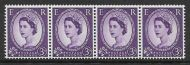 S71a 3d Sideways Wilding Multi Crowns on White Coil strip UNMOUNTED MINT/MNH