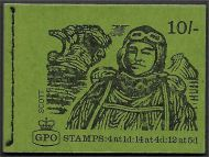 sg XP6 10/- Explorers Scott GPO booklet with all panes MNH