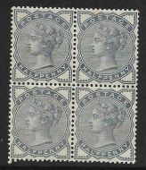 Sg 187 ½d Blue from Lilac  Green issue block of 4 UNMOUNTED MINT