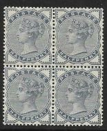 Sg 187 ½d Blue from Lilac  Green issue block of 4 UNMOUNTED MINT/MNH