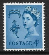 Sg XG7a 4d Guernsey Variety - missing phosphor UNMOUNTED MINT