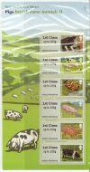 2012 Pigs British Farm Animals II (2) post  Go PG 7 UNMOUNTED MINT