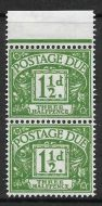 Sg D58a 1½d QE II Multi Crowns Postage Due stop after three UNMOUNTED MINT