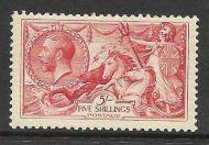 Sg 416 Spec N68(3) 5/- Rose Red Bradbury Wilkinson Seahorse UNMOUNTED MINT