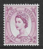 Sg S111a 6d Wilding 2x8mm Blue phosphor on white LP with RPS cert UNMOUNTED MINT