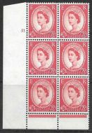 2½d Wilding Multi Crown on Cream Cyl 51 No Dot perf B(I/P) UNMOUNTED MINT