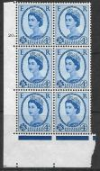 4d Wilding Multi Crown on White Cyl 20 Dot perf A(E/I) UNMOUNTED MINT